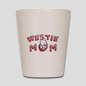 Westie Mom (Red) Shot Glass