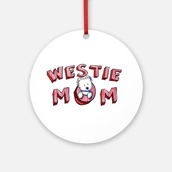 Westie Mom (Red) Ornament (Round)