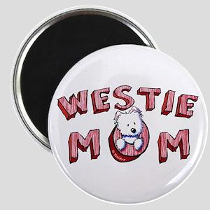 Westie Mom (Red) Magnet