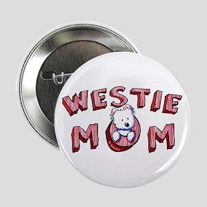 """Westie Mom (Red) 2.25"""" Button"""