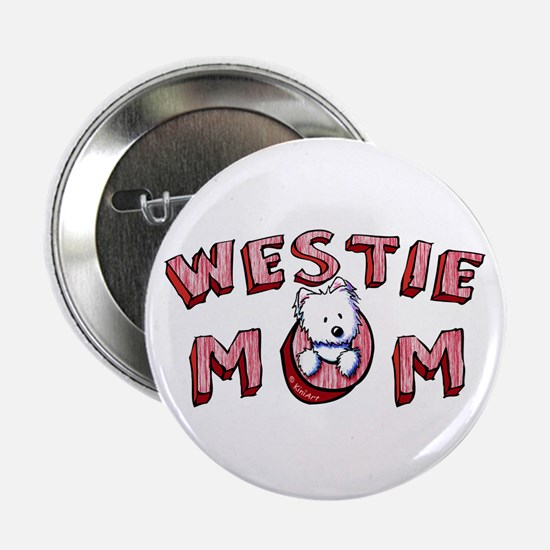 "Westie Mom (Red) 2.25"" Button"