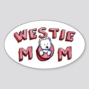 Westie Mom (Red) Sticker (Oval)