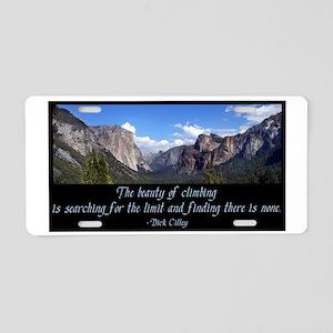 Beauty of Climbing Aluminum License Plate
