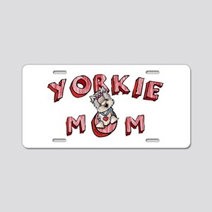 Yorkie Mom Aluminum License Plate