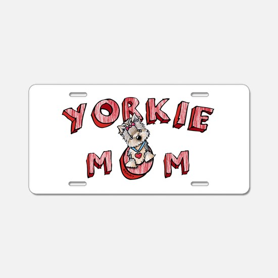 Yorkie Mom Aluminum License Plate