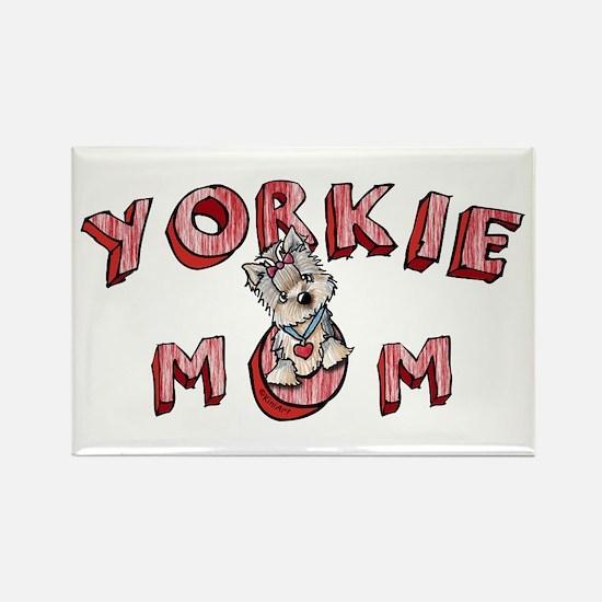 Yorkie Mom Rectangle Magnet