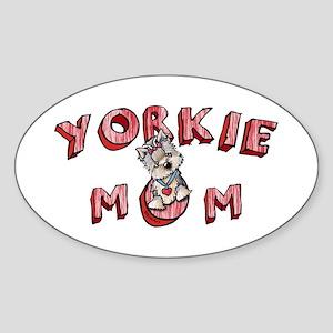 Yorkie Mom Sticker (Oval)