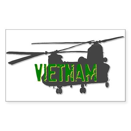 Vietnam Chinook Sticker (Rectangle)