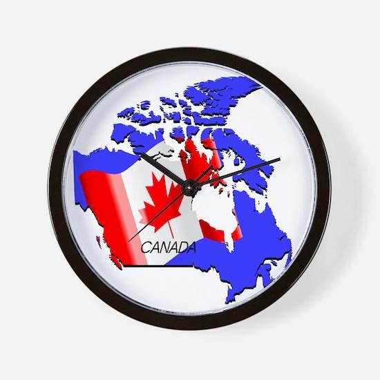Funny Ice hockey canada Wall Clock