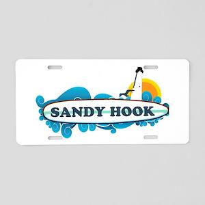 Sandy Hook NJ - Surf Design. Aluminum License Plat