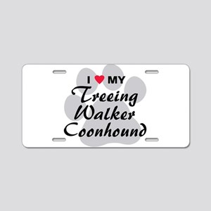 Treeing Walker Coonhound Aluminum License Plate