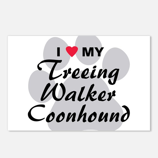 Treeing Walker Coonhound Postcards (Package of 8)