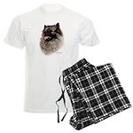 Keeshond Men's Light Pajamas