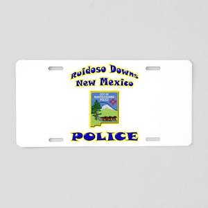 Ruidoso Downs Police Aluminum License Plate
