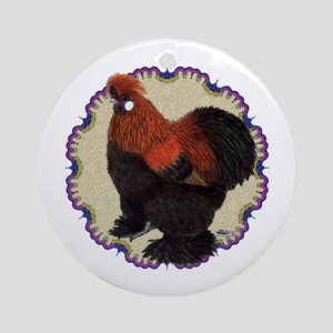 Silkie Circle Ornament (Round)