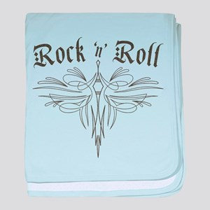 Rock n Roll Stripe baby blanket
