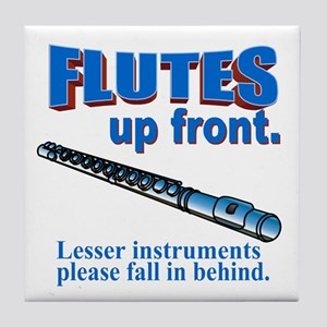 Flutes Up Front Tile Coaster