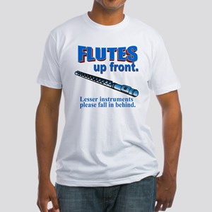 Flutes Up Front Fitted T-Shirt