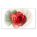 Musical Rose Sticker (Rectangle 50 pk)