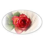 Musical Rose Sticker (Oval 10 pk)