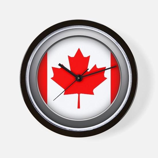 Round Flag - Canada Wall Clock