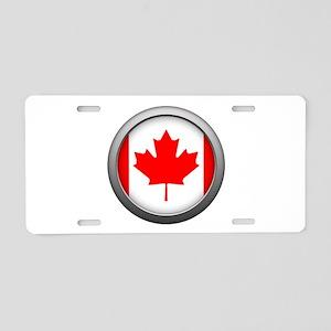 Round Flag - Canada Aluminum License Plate
