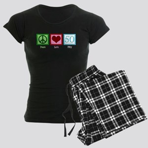 Peace Love 50 Women's Dark Pajamas