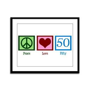Peace Love 50 Framed Panel Print