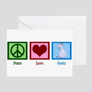 Peace Love Goats Greeting Card