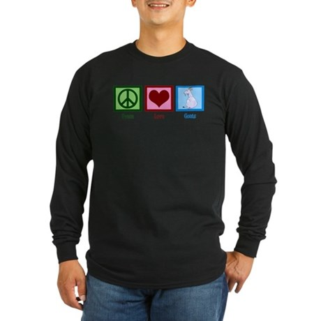 Peace Love Goats Long Sleeve Dark T-Shirt