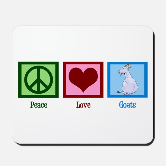 Peace Love Goats Mousepad