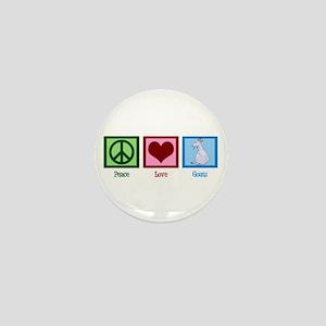 Peace Love Goats Mini Button