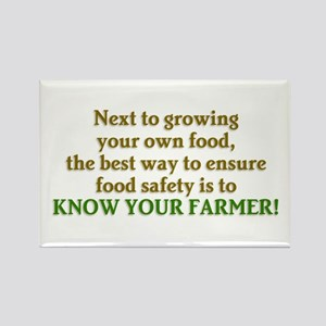 Know Your Farmer Rectangle Magnet