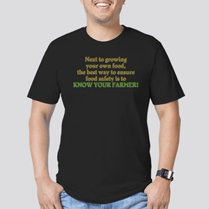 Know Your Farmer Men's Fitted T-Shirt (dark)