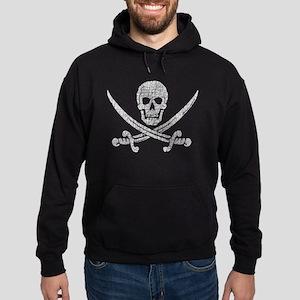 Distressed Jolly Roger Hoodie (dark)