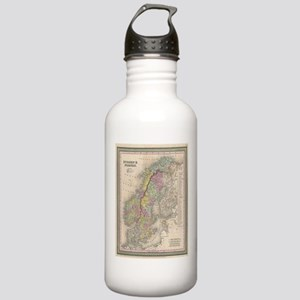 Vintage Map of Scandin Stainless Water Bottle 1.0L