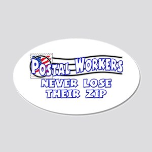 Postal Worker 22x14 Oval Wall Peel