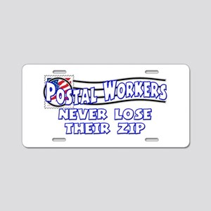 Postal Worker Aluminum License Plate