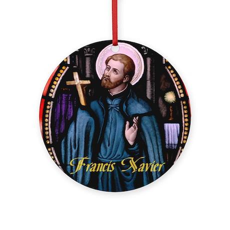 Francis Xavier Ornament (Round)