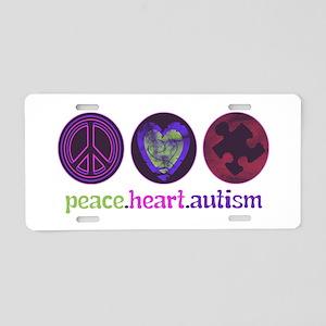 PEACE HEART ET CETERA Aluminum License Plate