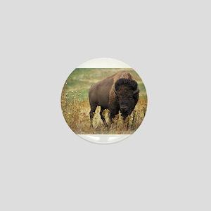 Bison Mini Button