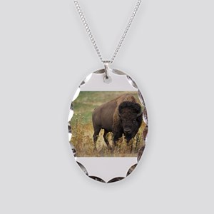 Bison Necklace Oval Charm