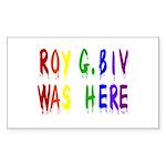 Roy G. Biv Graffiti (color wh Sticker (Rectangle)