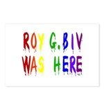Roy G. Biv Graffiti (color wh Postcards (Package o