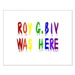 Roy G. Biv Graffiti (color wh Small Poster