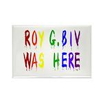 Roy G. Biv Graffiti (color wh Rectangle Magnet