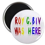 Roy G. Biv Graffiti (color wh Magnet