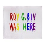Roy G. Biv Graffiti (color wh Throw Blanket