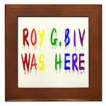 Roy G. Biv Graffiti (color wh Framed Tile