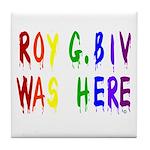 Roy G. Biv Graffiti (color wh Tile Coaster